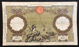 100 Lire Roma Guerriera Fascio Roma 09 06 1937 BIGLIETTO Naturale LOTTO 999 - 100 Liras