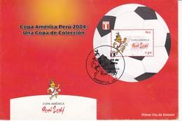 FDC. COPA AMERICA PERU 2004: UNA COPA DE COLECCION. OBLIT LIMA.-TBE-BLEUP - Perú