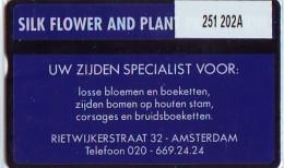 Telefoonkaart  LANDIS&GYR  NEDERLAND * RCZ.251  202a * Silk Flower 2 (blauw)  * TK *  ONGEBRUIKT * MINT - Privé