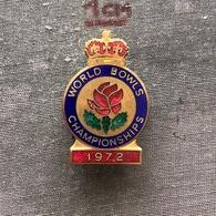 Badge (Pin) ZN006864 - Bowls World Championships Worthing England 1972 - Bowls - Pétanque