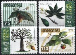 COSTA RICA, 2004, UPAEP, FLORA, TREES, YV#748-51, MNH - Costa Rica