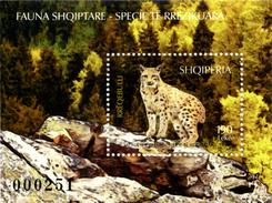 Albania Stamps 2017. Fauna, Endangered Species: Lynx. Block MNH - Albania
