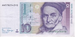 BILLETE DE ALEMANIA DE 10 MARCK DEL AÑO 1989   (BANKNOTE) - [ 7] 1949-… : RFA - Rep. Fed. De Alemania