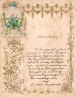1902 LETTRE DE NOUVEL AN - NEW YEAR LETTER - NIEUWJAARSBRIEF - DOREE EN RELIEF ET DECOUPIS - LOO 1902 ! - Announcements