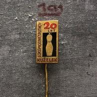 Badge (Pin) ZN006881 - Bowling Czechoslovakia Lokomotiva Trutnov - Bowling