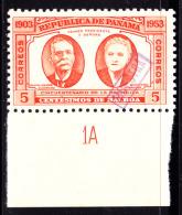 "Panama (1953) 5c 50th Anniversary Of Republic Overprinted ""MUESTRA"" (specimen). Scott 390. MNH. Sanabria And Kessler Exp - Panama"