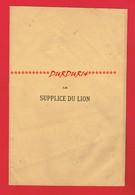 1 Poème De 3 Pages LE SUPPLICE DU LION Par Victor LEMARCHAND De 1871 - Poetry
