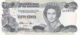 BILLETE DE BAHAMAS DE 1/2 DOLLAR DEL AÑO 1984  (BANKNOTE) SIN CIRCULAR-UNCIRCULATED - Bahamas