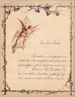 1903 LETTRE DE NOUVEL AN - NEW YEAR LETTER - NIEUWJAARSBRIEF - ARGENTEE EN RELIEF - LOO 1903 ! ANGELS PRINTED - Announcements