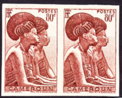 Cameroun (1946) Femmes Tikar. Pair Non Dentelé.  Yvert No 281, Scott No 309. - Cameroun (1915-1959)