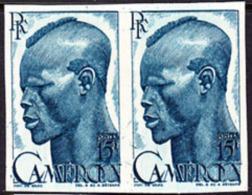 Cameroun (1946) FNative Farmer. Imperforate Pair.  Scott No 319, Yvert No 292. - Cameroun (1915-1959)