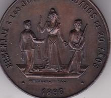 HOMENAJE A LOS JOVENES SOLDADOS DE 20 AÑOS 1896. PRIMERA CONSCRIPCION DEL EJEERCITO ARGENTINO. ORZALI BYC. MEDALLA-BLEUP - Andere