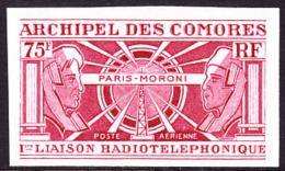 Comoros (1972) Trial Color Proof.  Scott No C43.  Yvert No PA43. First Radio Telephone Connection Between Comoro Islands - Comoros