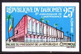 Dahomey (1963) Presidential Palace. Imperforate.  Scott No 178, Yvert No 198. - Benin - Dahomey (1960-...)