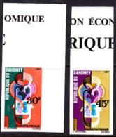 Dahomey (1967) Blood Circulation. Set Of 2 Imperforates. EuropAfrique. Scott Nos 237-8, Yvert Nos 257-8. - Benin - Dahomey (1960-...)