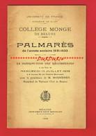 1 Plaquette 30 Pages Université De France Collège MONGE De BEAUNE Palmarès De 1931-1932 - Books, Magazines, Comics
