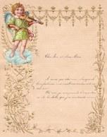 1907 LETTRE DE NOUVEL AN - NEW YEAR LETTER - NIEUWJAARSBRIEF - DOREE EN RELIEF - LOO 1907 ! DECOUPIS ANGE - Announcements