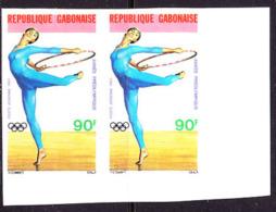 Gabon (1983) Gymnast. Imperforate Pair.  Scott No C256, Yvert No PA254. - Gabon