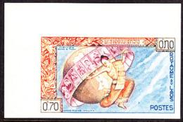Laos (1962) Letter Carrier. Globe. Imperforate.  Scott No 78, Yvert No 83. - Laos