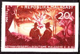 Madagascar (1964) Scouts. Campfire. Imperforate.  Scott No 356, Yvert No 395. - Madagascar (1960-...)