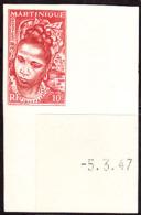 Martinique (1947) Martinique Woman. Imperforate.  Scott No 217, Yvert No 226. - Martinique (1886-1947)