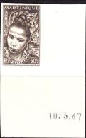 Martinique (1947) Martinique Woman. Imperforate.  Scott No 219, Yvert No 228. - Martinique (1886-1947)