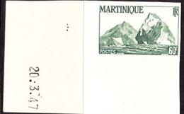 Martinique (1947) Cliffs. Imperforate.  Scott No 220, Yvert No 229. - Martinique (1886-1947)