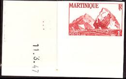 Martinique (1947) Cliffs. Imperforate.  Scott No 221, Yvert No 230. - Martinique (1886-1947)