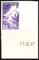 Martinique (1947) Mountains. Imperforate.  Scott No 232, Yvert No 241. - Martinique (1886-1947)