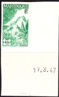 Martinique (1947) Mountains. Imperforate.  Scott No 233, Yvert No 242. - Martinique (1886-1947)