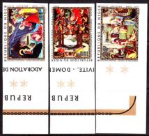 Niger (1971) Christmas Paintings. Set Of 3 Imperforates.  Scott Nos C170-2, Yvert Nos PA170-2. - Christmas
