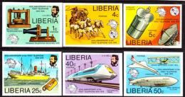 Liberia (1976) Alexander Graham Bell Centennial. Set Of 6 Imperforates  Scott Nos 742-7, Yvert Nos 712-17. - Liberia