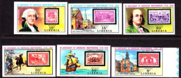 Liberia (1975) Old US Stamps. Set Of 6 Imperforates  Scott Nos 703-8, Yvert Nos 673-8. - Liberia