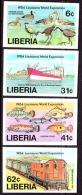 Liberia (1984) Louisiana Expo. Set Of 4 Imperforates  Scott Nos 1005-8, Yvert Nos 997-1000. - Liberia