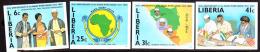 Liberia (1984) Mano River Union. Set Of 4 Imperforates  Scott Nos 982-5, Yvert Nos 982-5. - Liberia