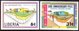 Liberia (1983) National Archives. Set Of 2 Imperforates  Scott Nos 982-3, Yvert Nos 968-9. - Liberia