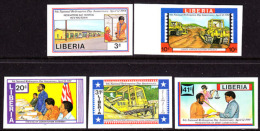 Liberia (1984) National Redemption Day. Set Of 5 Imperforates  Scott Nos 987-91, Yvert Nos 977-81. - Liberia