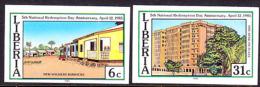 Liberia (1985) National Redemption Day. Set Of 2 Imperforates  Scott Nos 1015-6, Yvert Nos 1007-8. - Liberia