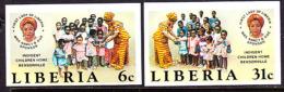 Liberia (1984) Indigent Children's Home. Set Of 2 Imperforates  Scott Nos 1013-4, Yvert Nos 1005-6. - Liberia