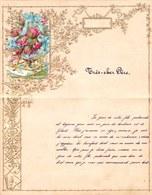 1906 LETTRE DE NOUVEL AN - NEW YEAR LETTER - NIEUWJAARSBRIEF - DOREE EN RELIEF - LOO 1906 ! DECOUPIS ROSE - Announcements