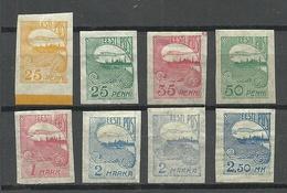 Estland Estonia 1920/24 Michel 15 - 17 (a+b) & 27 - 28 & 31 & 53 * - Estland