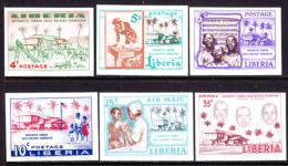 Liberia (19657) Child Welfare Foundation. Set Of 6 Imperforates.  Scott Nos 364-7,C111-2.  Yvert Nos  342-5,PA108-9. - Liberia
