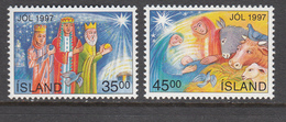 Iceland MNH Michel Nr 880/81 From 1997 / Catw 2.50 EUR - 1944-... Republique