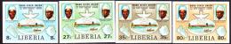 Liberia (1980) ManoRiver Postal Union 5th Anniversary. Set Of 4 Imperforates.  Scott Nos 874-7, Yvert Nos 874-7. - Liberia