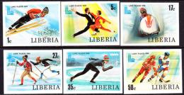 Liberia (1980) Lake Placid Olympics. Set Of 6 Imperforates.  Scott Nos 867-72, Yvert Nos 868-73. - Winter 1932: Lake Placid