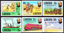 Liberia (1979) Rowland Hill Anniversary. Set Of 6 Imperforates.  Scott Nos 842-7, Yvert Nos 800-5. - Liberia
