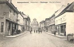Scherpenheuvel - Montaigu - Statiestraat (top Animatie, Café, Hôtel, Stalmans-Adrians) - Scherpenheuvel-Zichem
