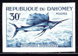 Dahomey (1965) Sailfish. Trial Color Proof.  Scott No 207, Yvert No 227. - Benin - Dahomey (1960-...)
