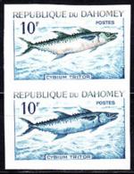 Dahomey (1965) Cybium Tritor. Trial Color Proof Pair.  Scott No 205, Yvert No 225. - Benin - Dahomey (1960-...)