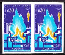 Algeria (1964) Natural Gas Liquification Plant. Imperforate Pair.  Scott No 333, Yvert No 402. - Algeria (1962-...)